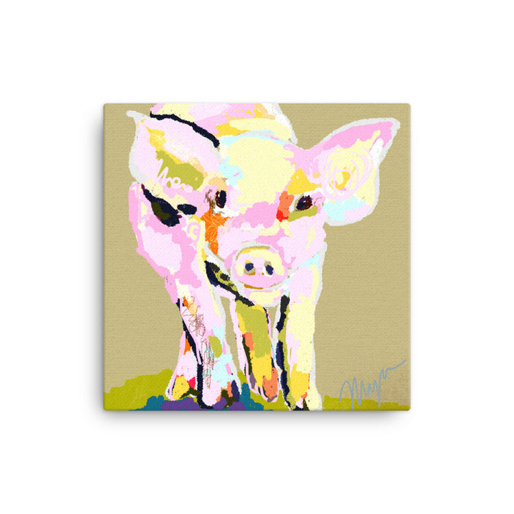Piggy Comin' At Ya... Canvas