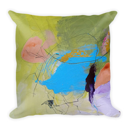 Abstract Green Garden ~ Premium Pillow