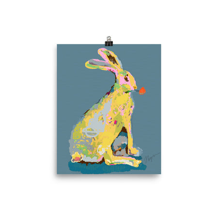 Slate Jack Rabbit Art Print
