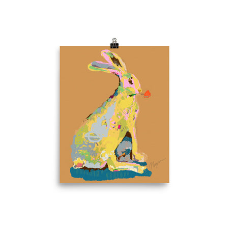 Ochre Jack Rabbit Art Print