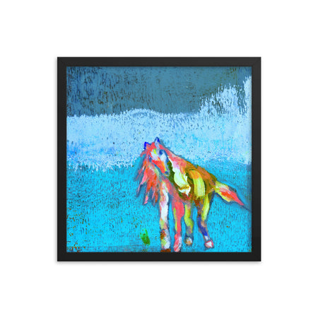 """Saunter and Flow"" Framed Art"