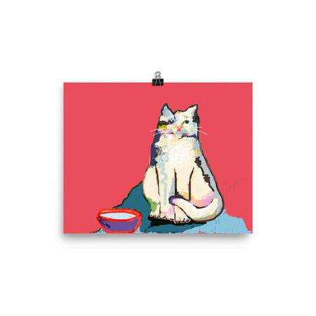 Mr. Chubs Cat Art Print