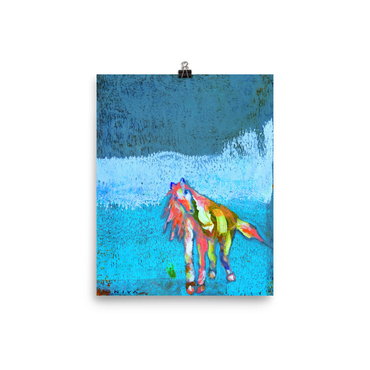 Saunter and Flow Horse Art Print