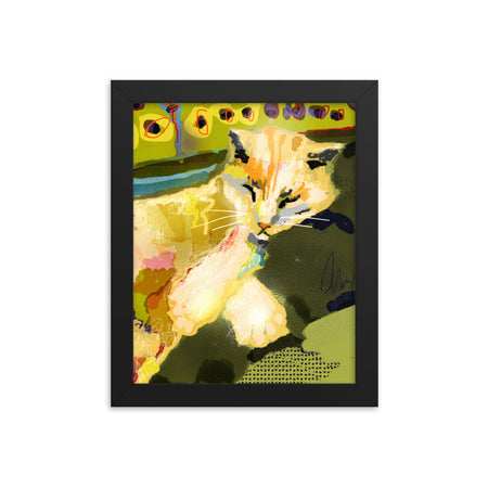 Sleeping Cat Framed Art Print