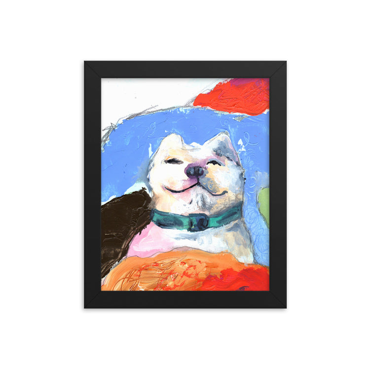 Bedtime Simon Framed Art Print