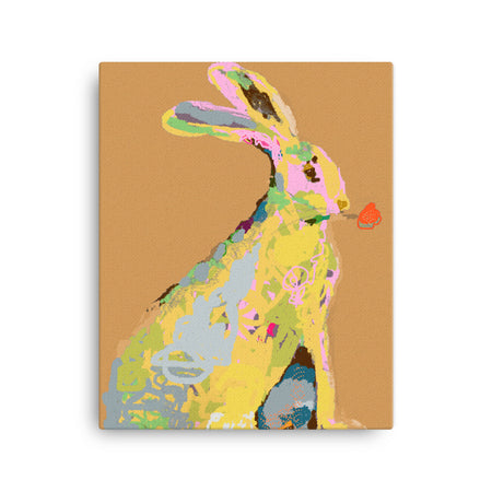 Ochre Jack Rabbit Canvas