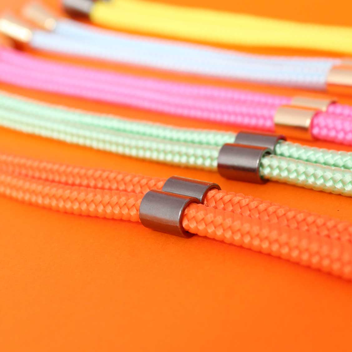 Cordon collier de portable cordon fluo orange