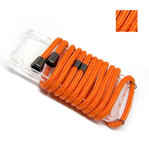 Cordon collier de téléphone cordon orange fluo