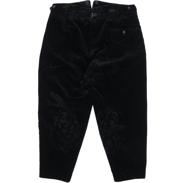 SNAKE & GRAPE LASER PANT / BLK