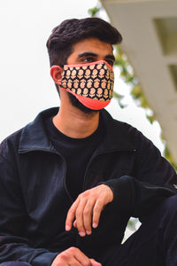 Neon Retro Unisex Cotton Face Mask