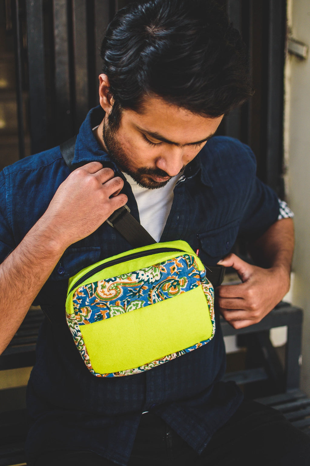 Lemon Blaze Chest Bag
