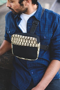 Black Retro Chest Bag