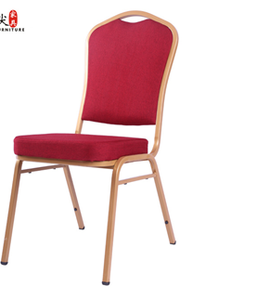 Banquet Red Velvet Chair With Gold Frame