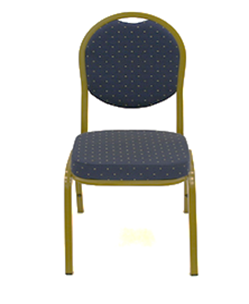 Banquet Chair Black With Gold Frame