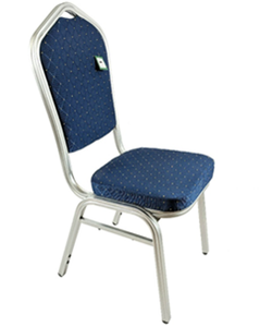 Banquet Chair Blue With Silver Frame