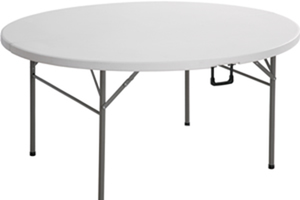 Plastic Round Fold In Half Table 1.8