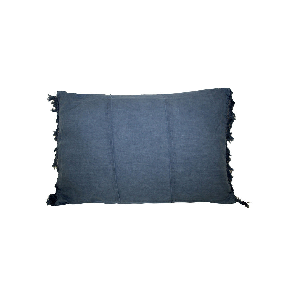 Linen Rectangle Navy Cushion
