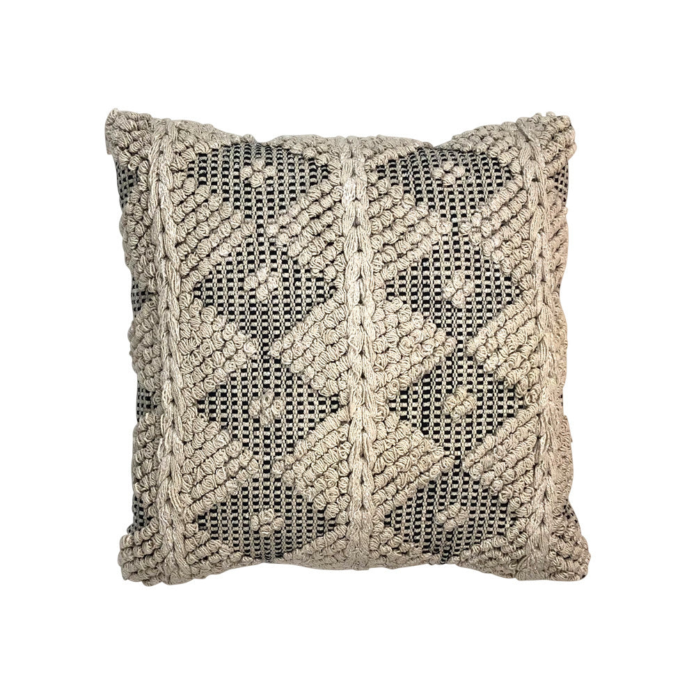 Beige & Black Boho Cushion V2