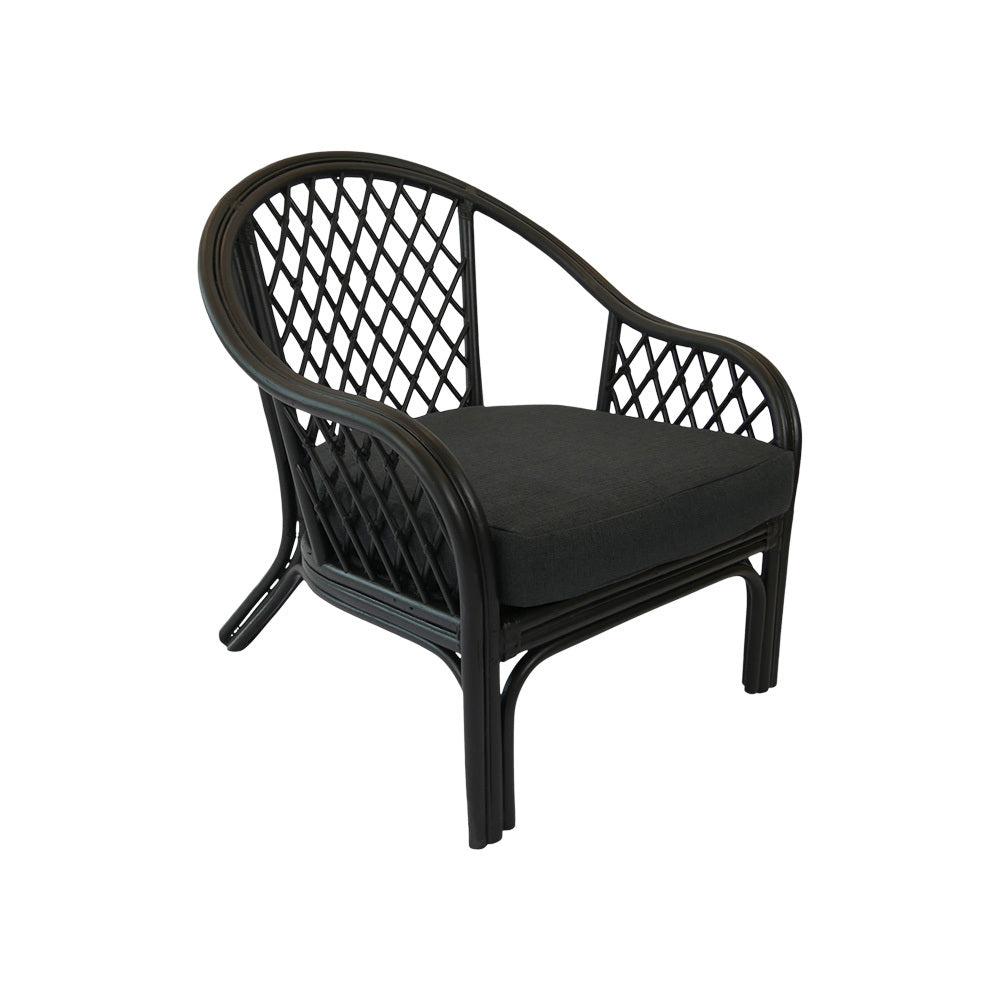 Black Cane Arm Chair