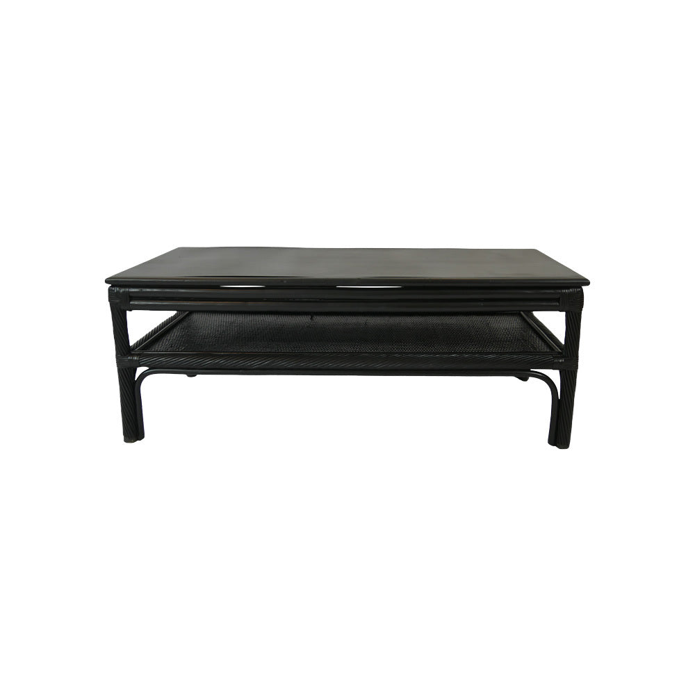 Black Cane Coffee Table