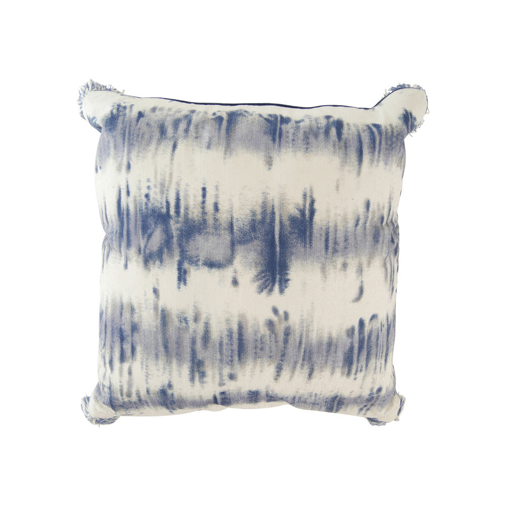 Blue tie die cushion