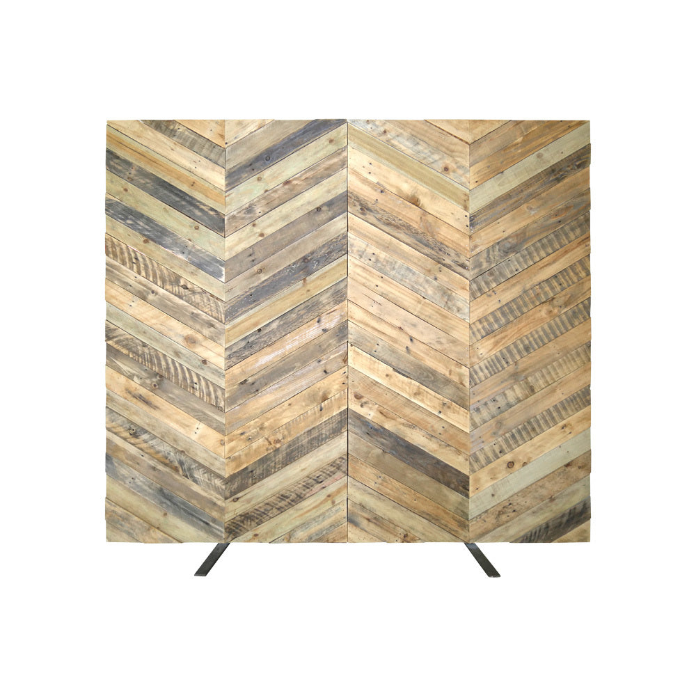 Chevron Timber Backdrop Wall