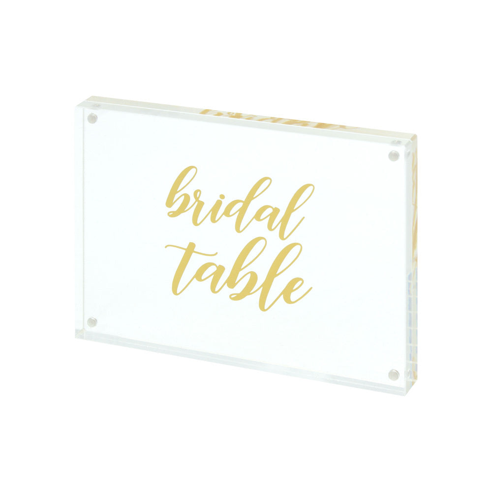 Clear Acrylic Table Number Package (1-15 + Bridal Table)
