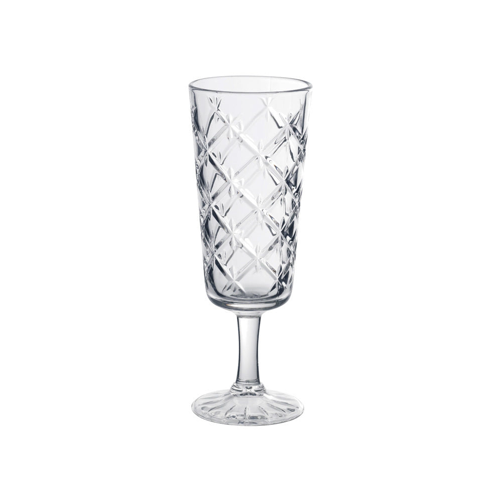 Decorative Crystal Champagne Glass (clear)