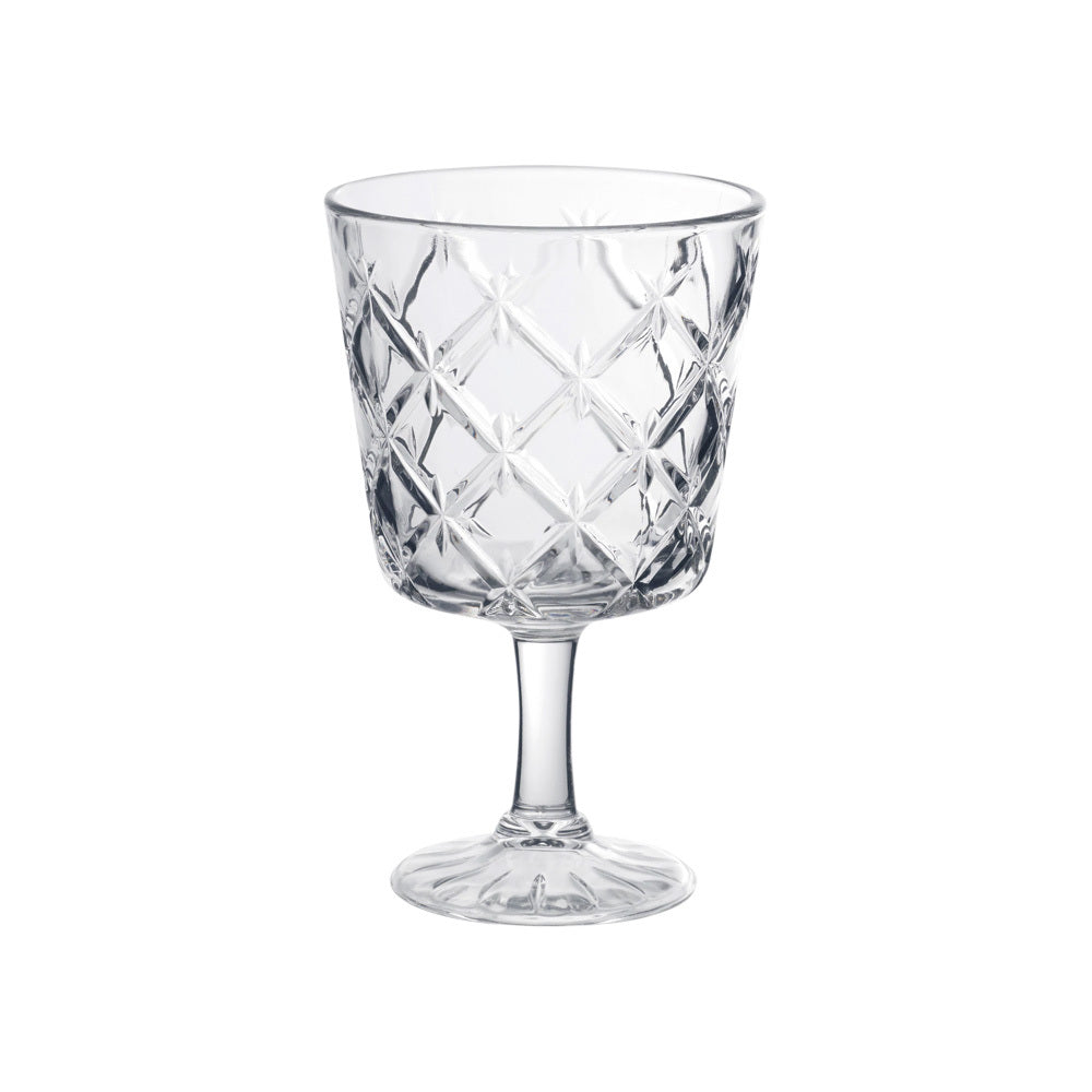 Decorative Crystal Wine Glass (clear)