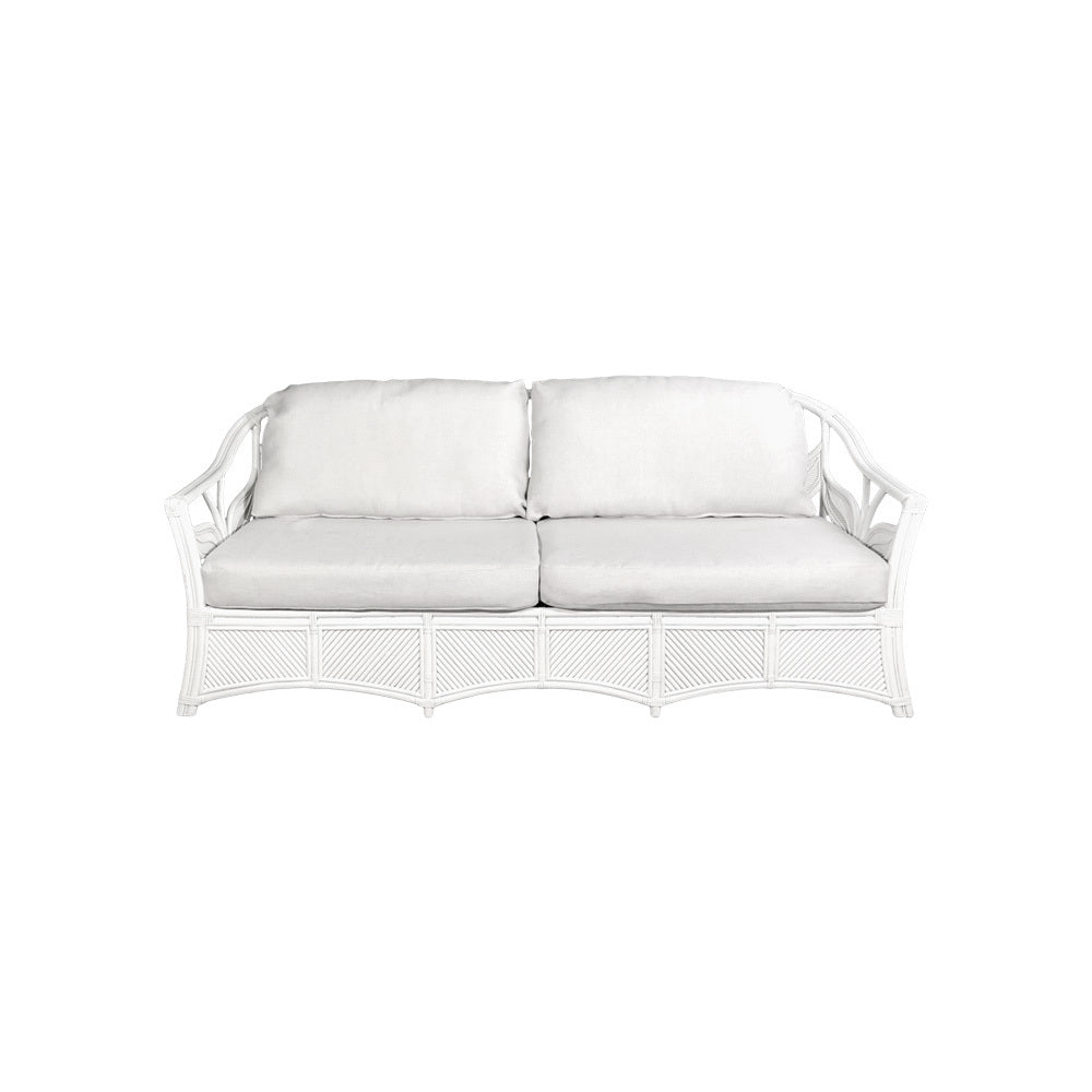 Fitzroy 2.0 White Cane 4 Seater Sofa