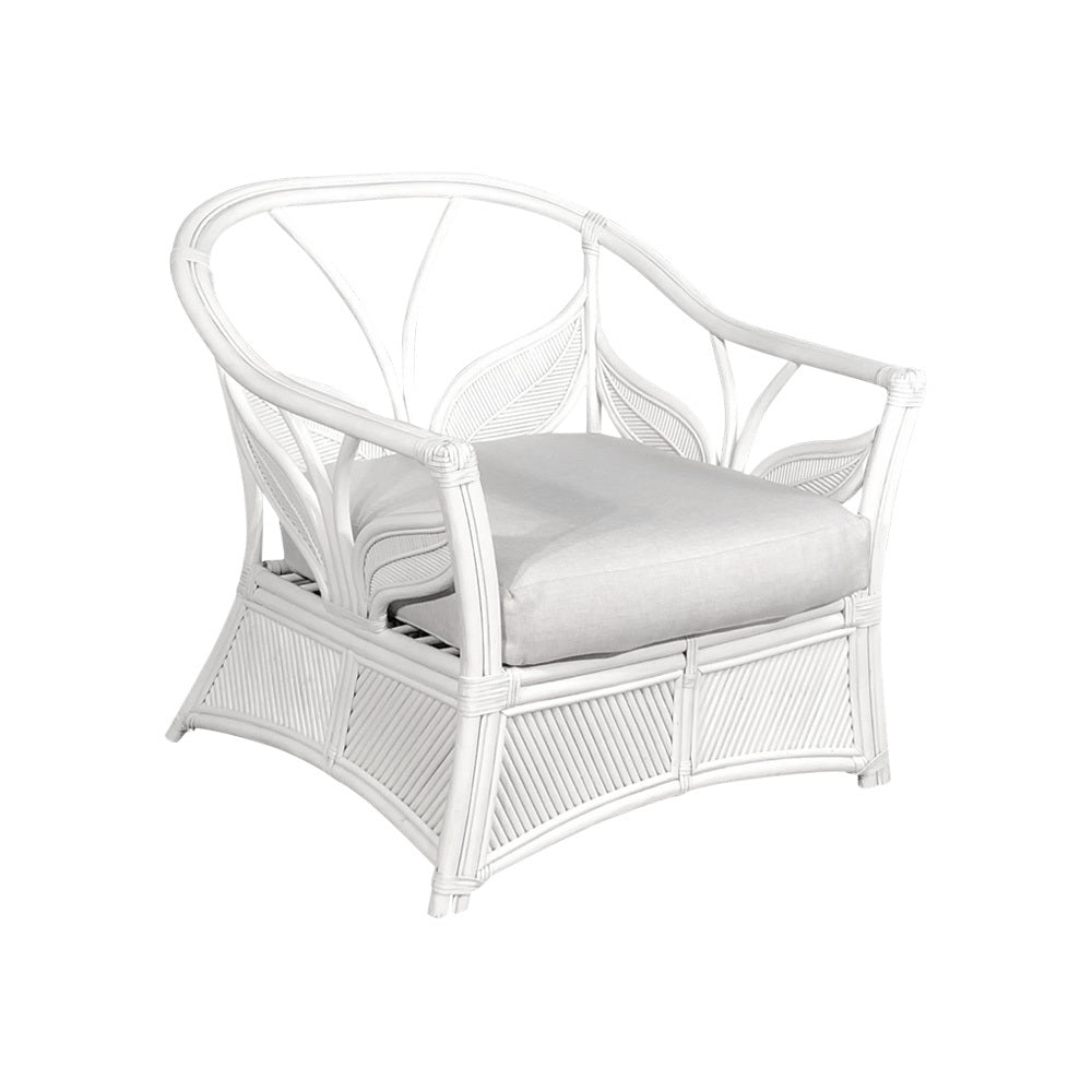 Fitzroy 2.0 White Cane Arm Chair