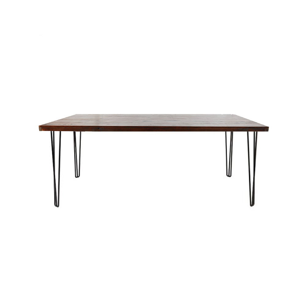 Hairpin Dining Table 1.8m (Walnut Top, Black Legs)