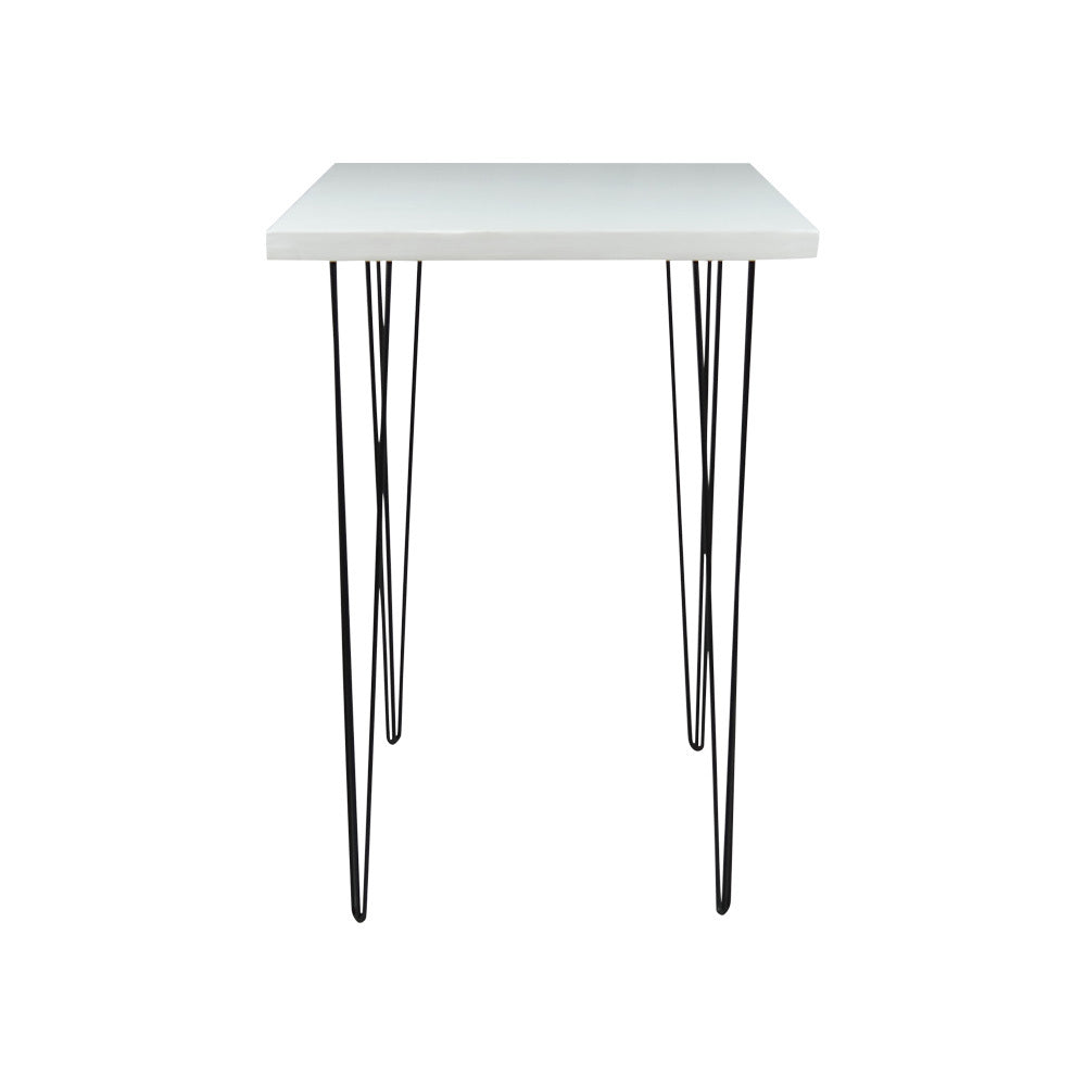 Hairpin Square High Bar (White Top, Black Legs)
