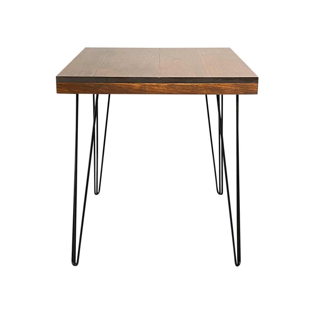 Hairpin Square Dining Table (Walnut Top, Black Legs)