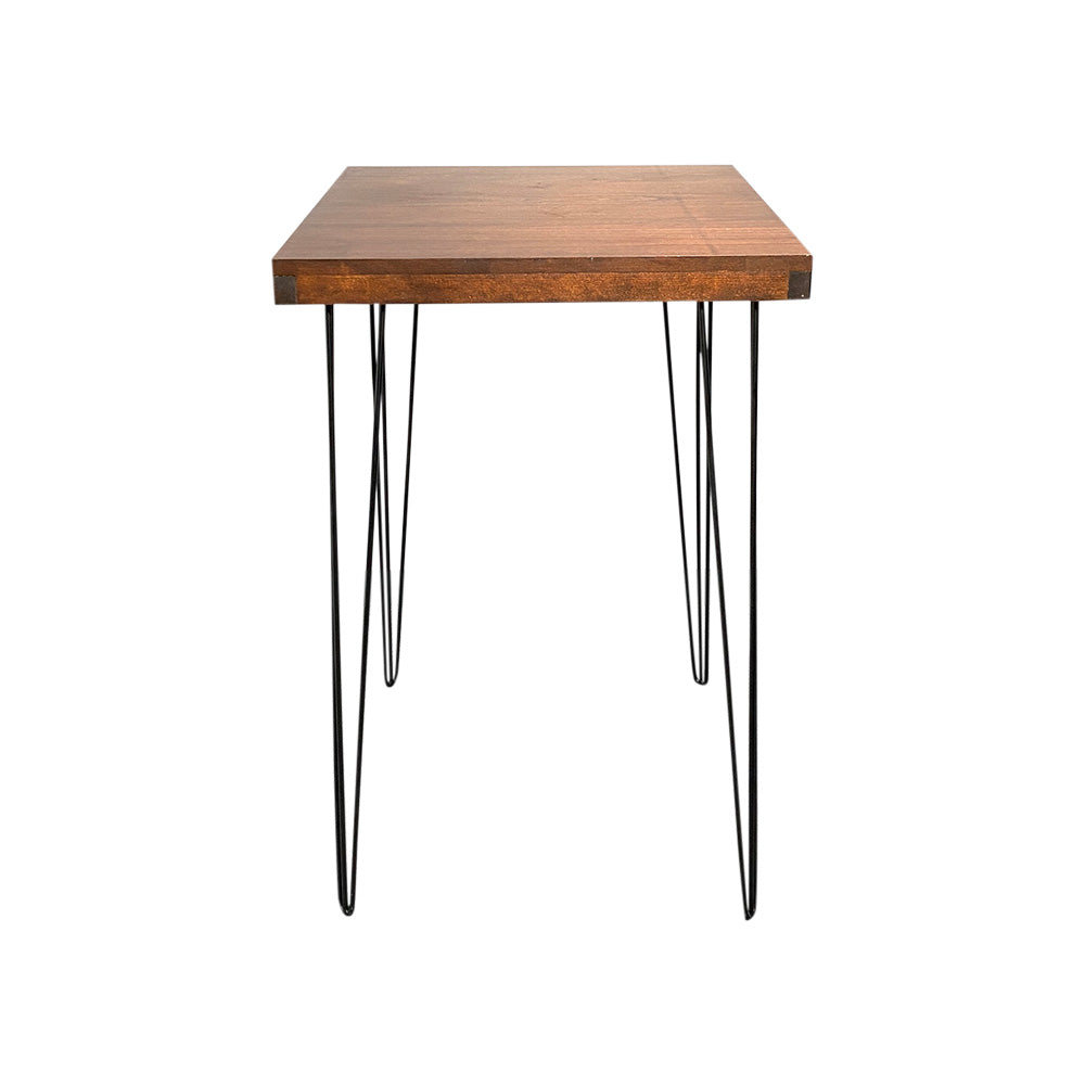 Hairpin Square High Bar (Walnut Top, Black Legs)
