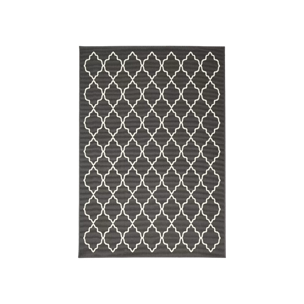 Hamptons Charcoal & White Rug (Large)