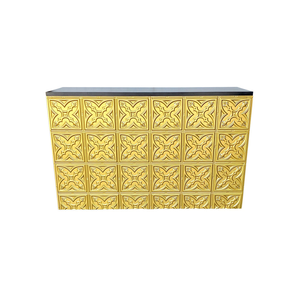 Pressed Metal Bar (Black Top, Gold Base)