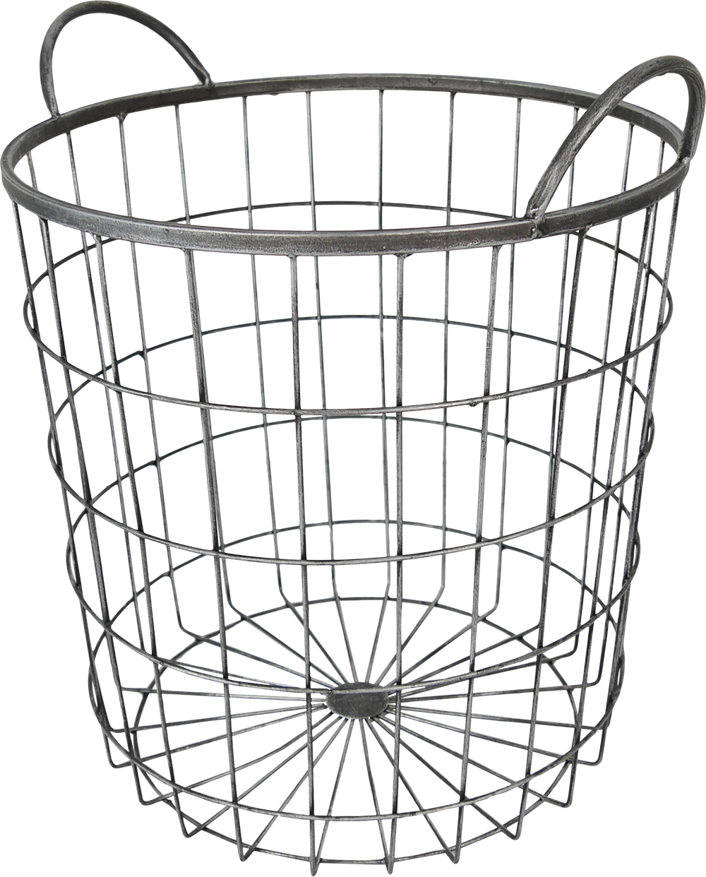 Large round wire basket
