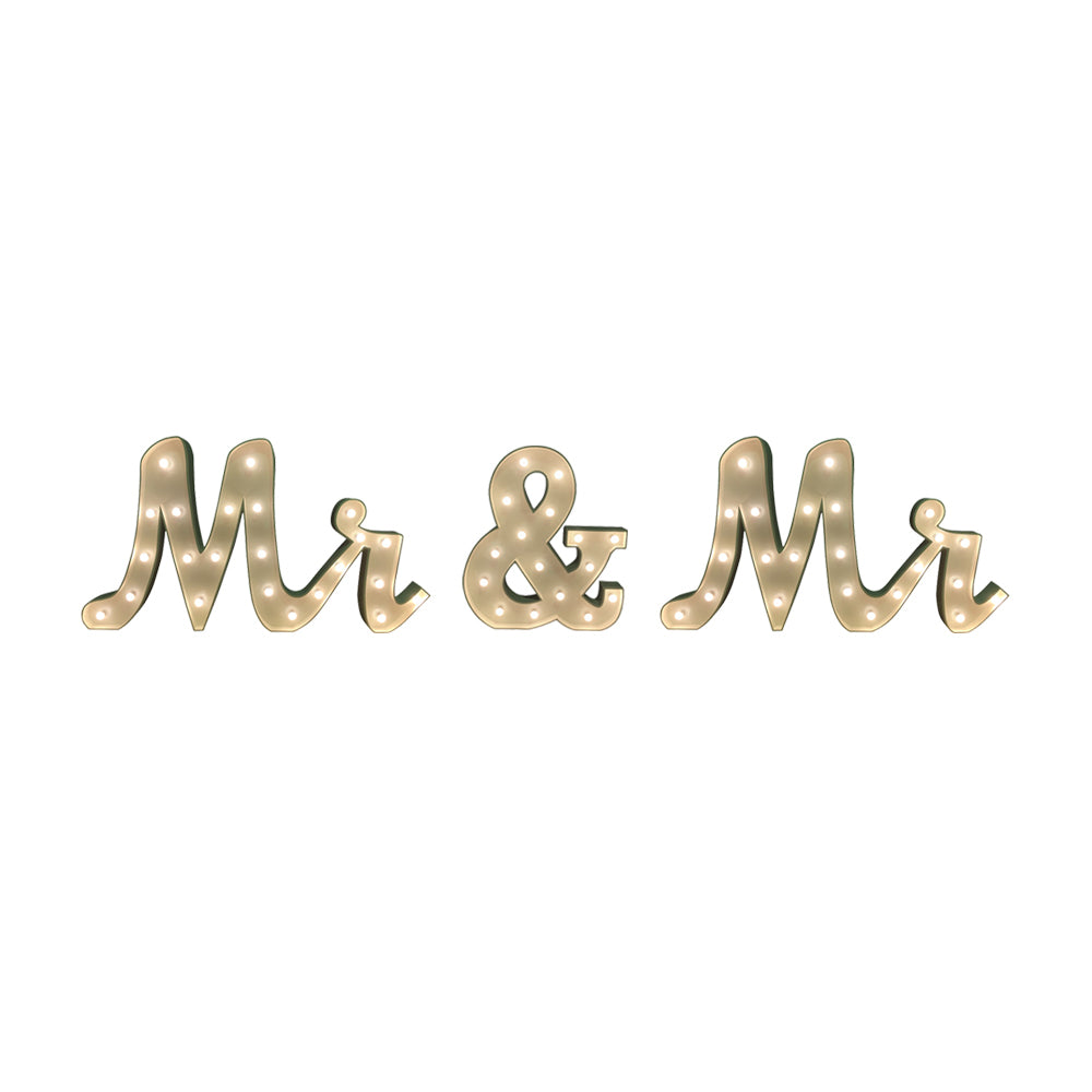 Mr & Mr' Marquee Letter Lights (1.5m H)