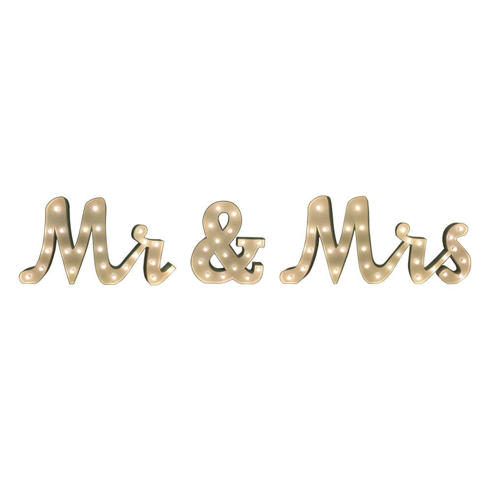 Mr & Mrs' Marquee Letter Lights (1.5m H)