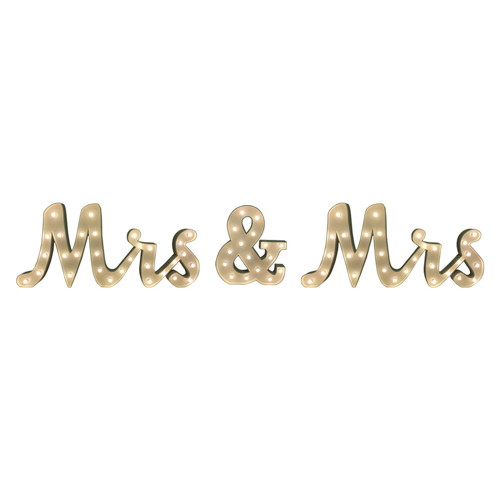 Mrs & Mrs' Marquee Letter Lights (1.5m H)