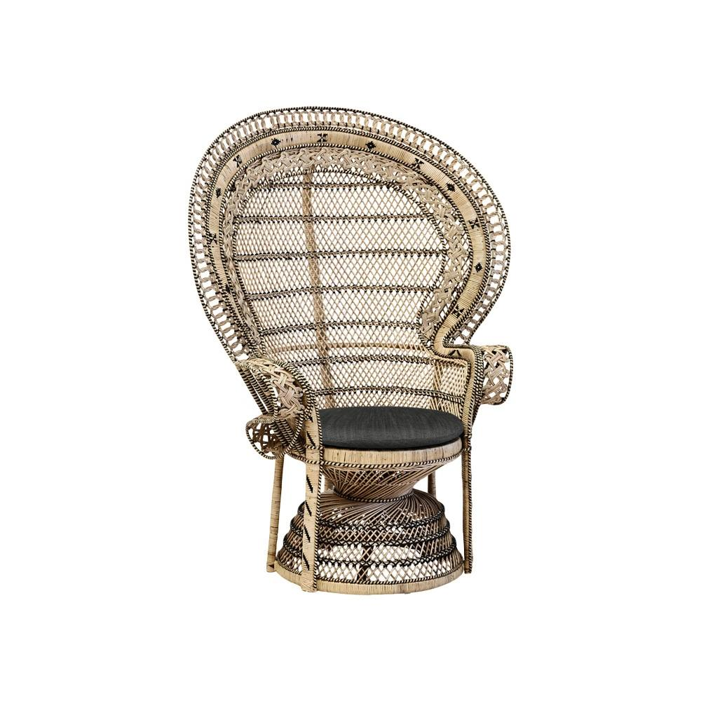 Marakech Peacock Chair (Natural)