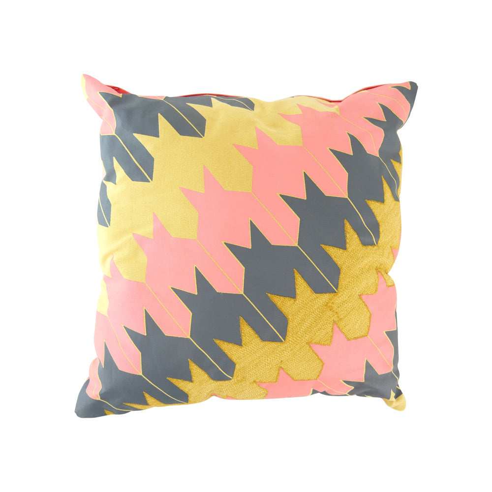 Pink, Yellow & grey cushion