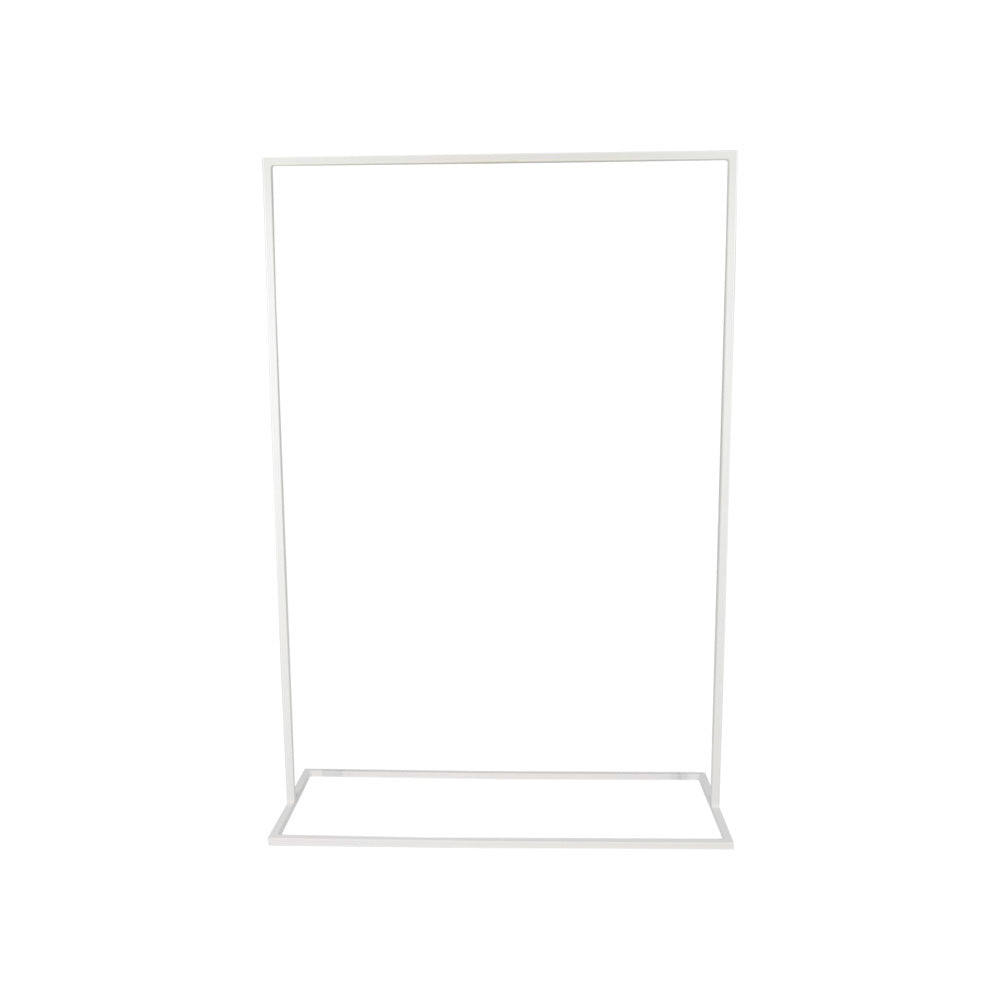 Rectangular Metal Signage Display Frame (White)