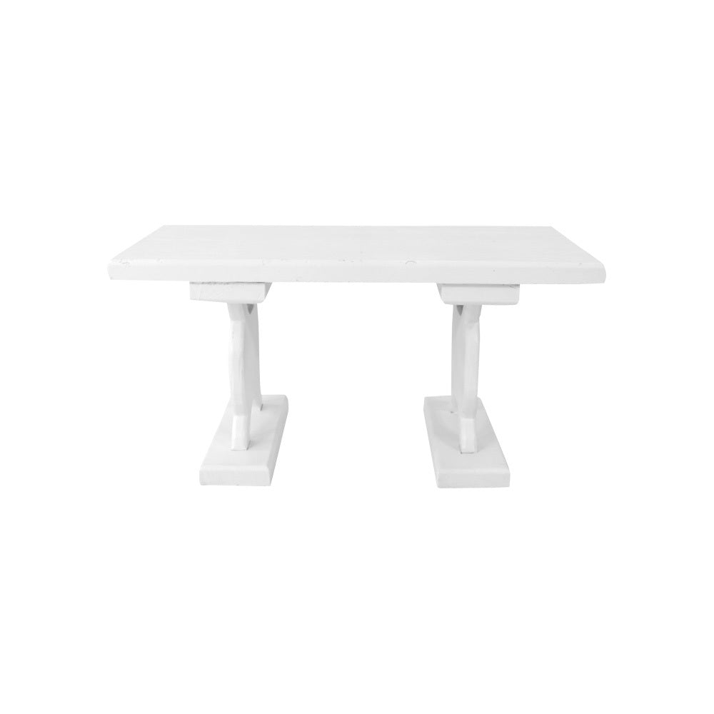 Solid Timber Coffee Table (White)