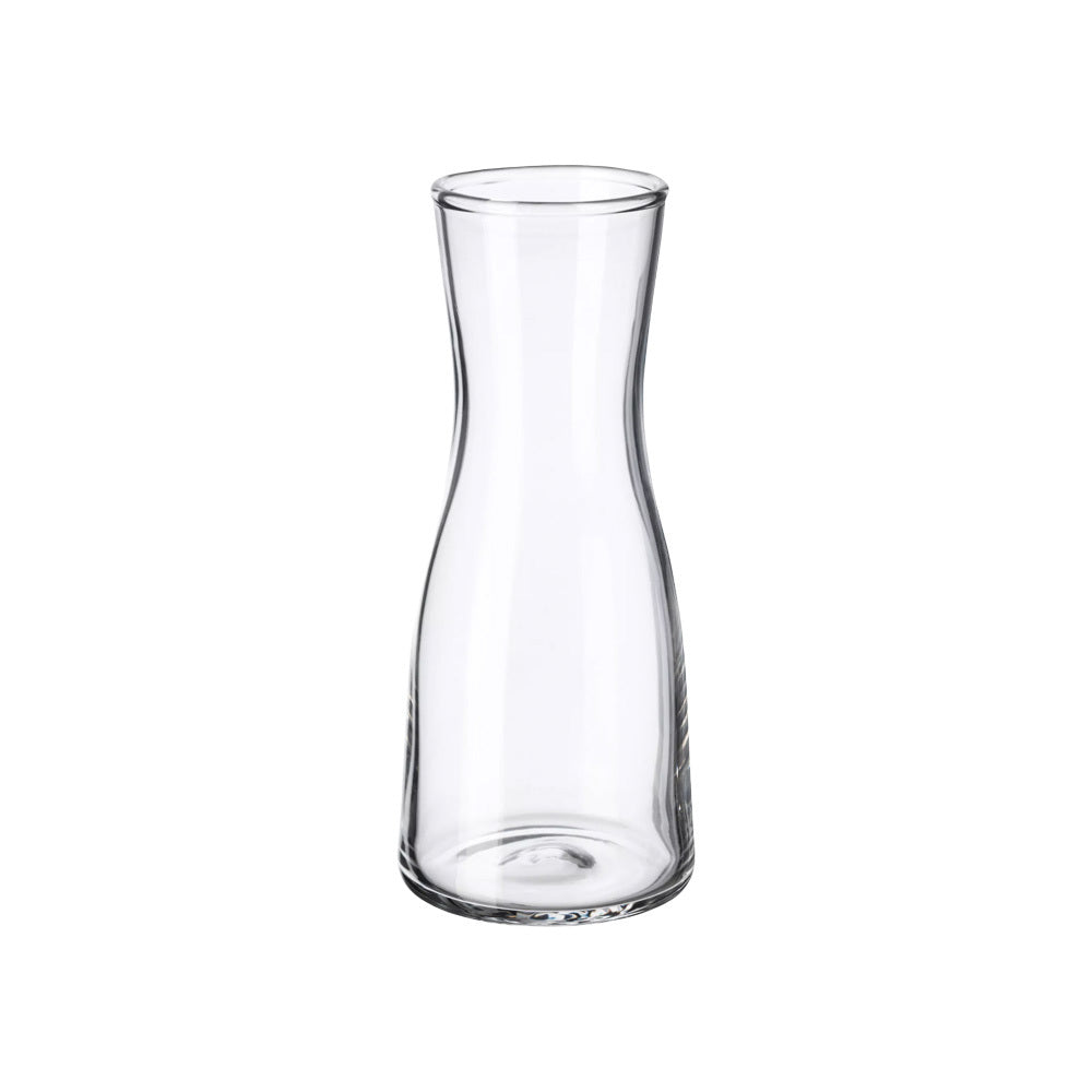 Tall Contoured Vase-Candle Holder (clear)