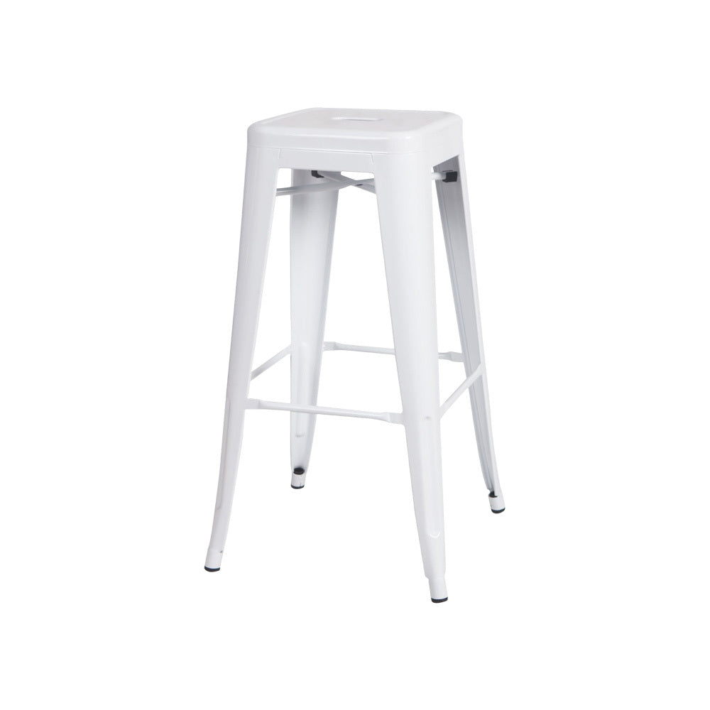Tolix Bar Stool 76cm H (Matte White)