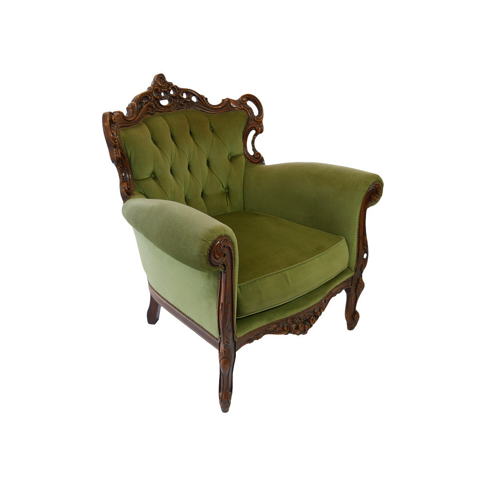 Vintage Green Arm Chair