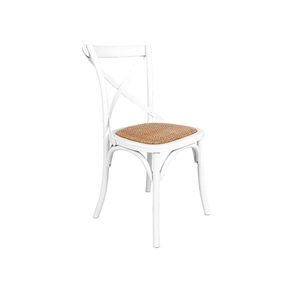 Cross Back Dining Chair (White)