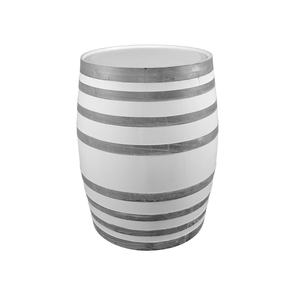 Wine Barrel High Bar (White)